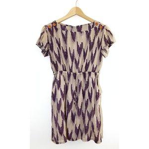 Anthropologie Mermaid Purple Hear Tunis Dress
